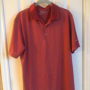 Burnt orange Nike golf shirt